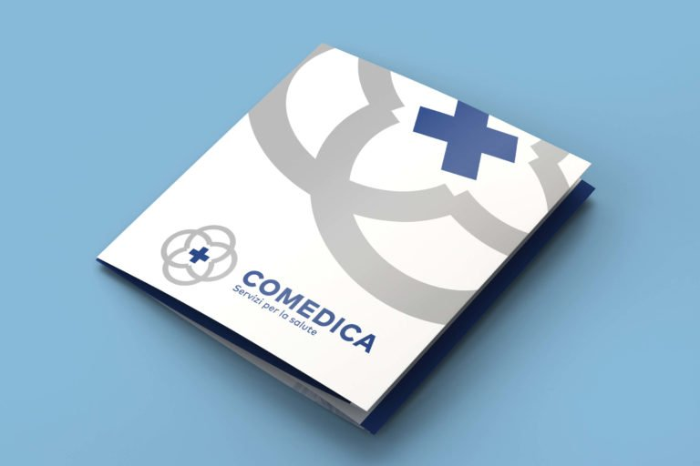 Un espositore da banco e brochure per una comunicazione integrata.