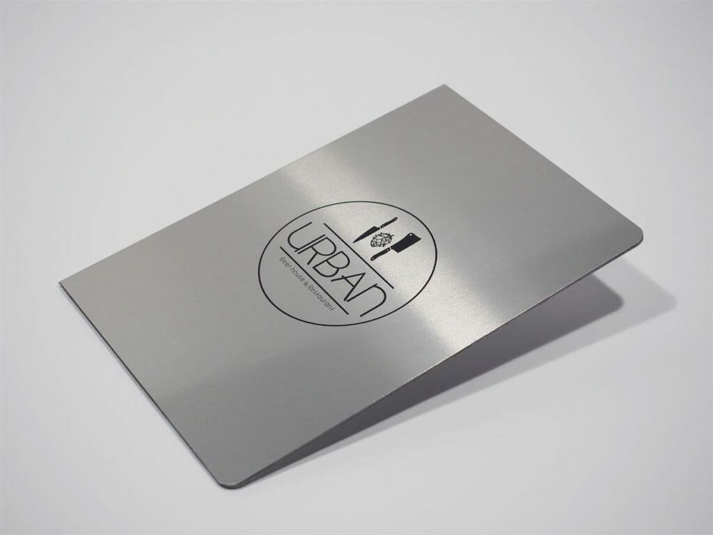stampa menu in alluminio Hylite