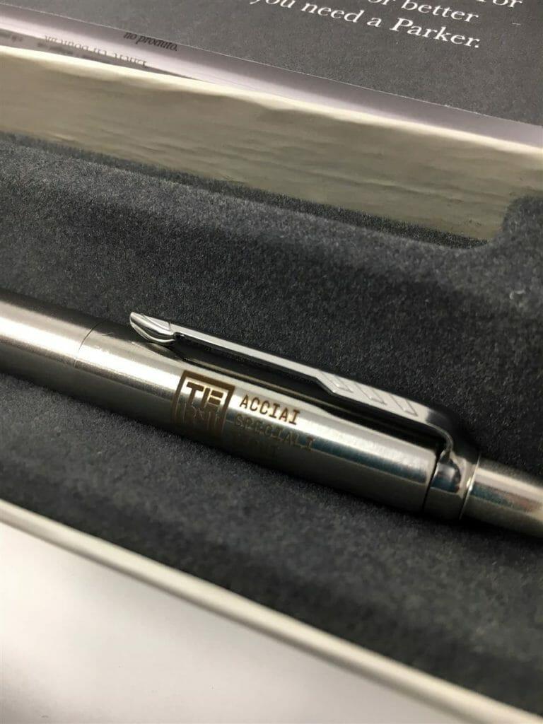 penna con incisione laser