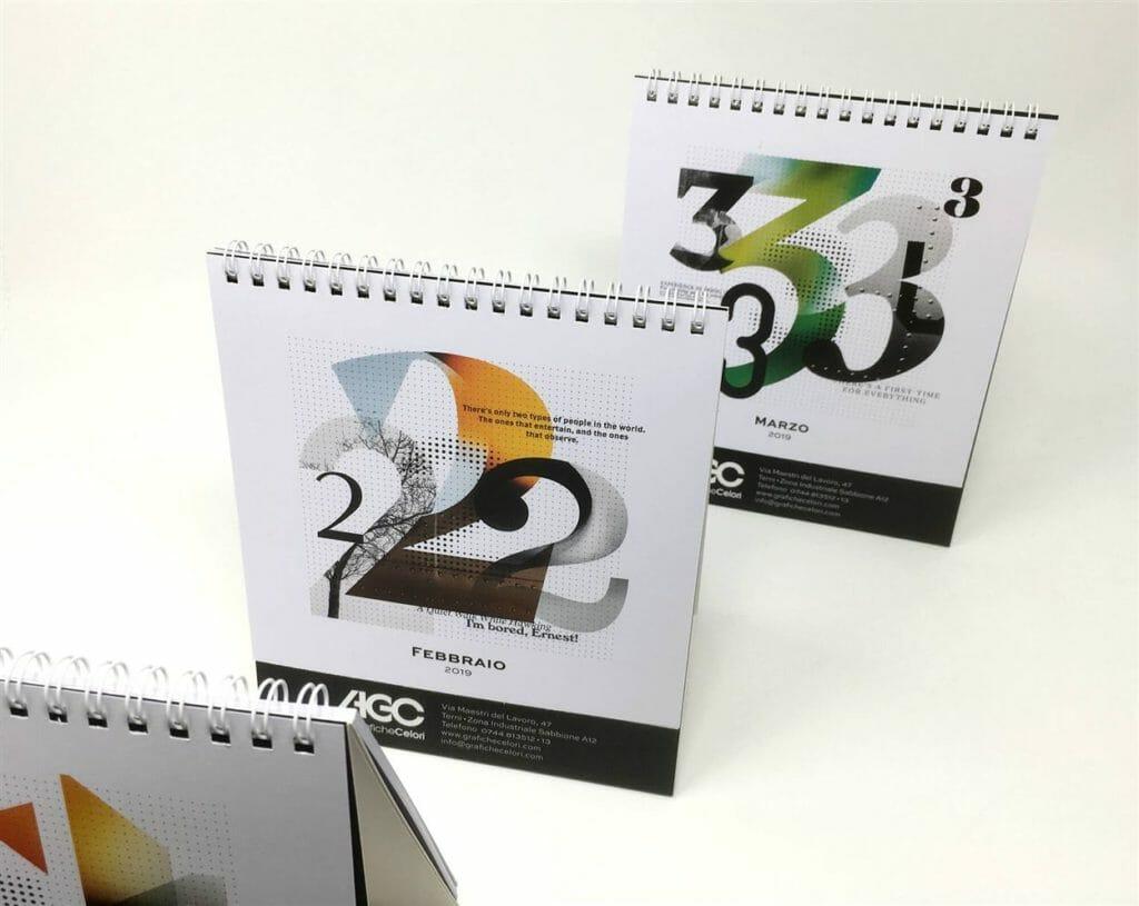 grafica calendario da tavolo
