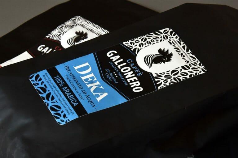 Caffè Gallonero. Etichette in pvc per la torrefazione artigianale umbra