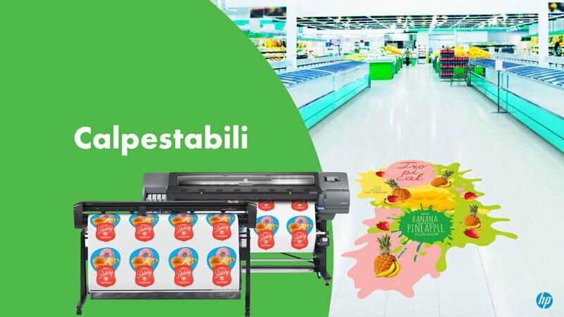 Esempio supermercato con pvc calpestabile